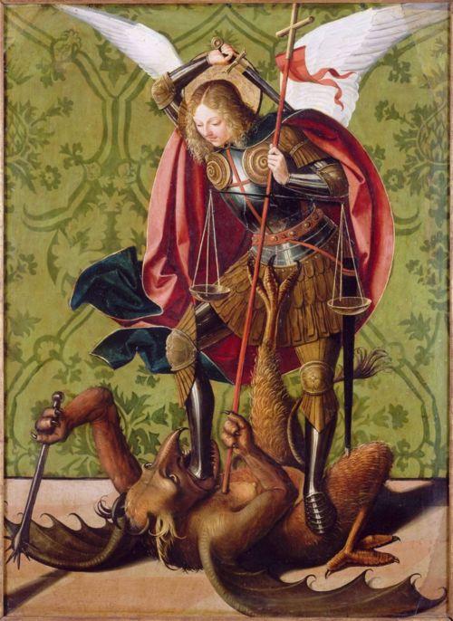 San Miguel combate y vence a Luzbel.